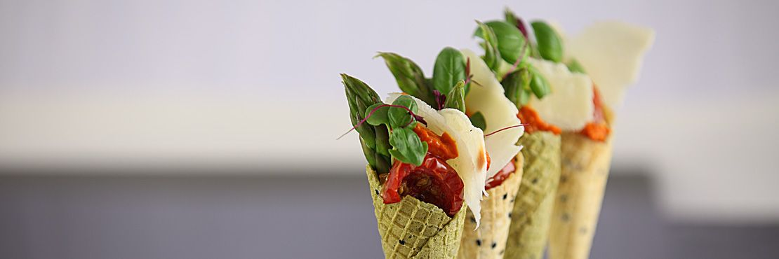 Canape Catering London Cold Asparagus Cone