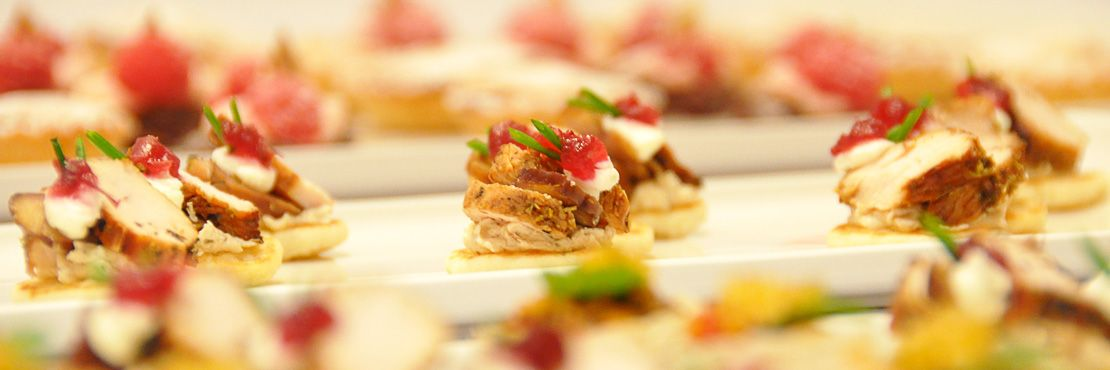 Cold canap catering london the garden catering for Canape buffet menus