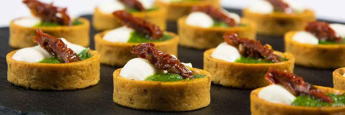 Canape Catering London Cold Pesto Sundried Tomato Pastry