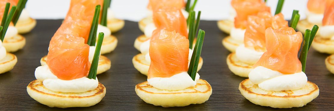 Canape Catering London Cold Smoked Salmon Bellini