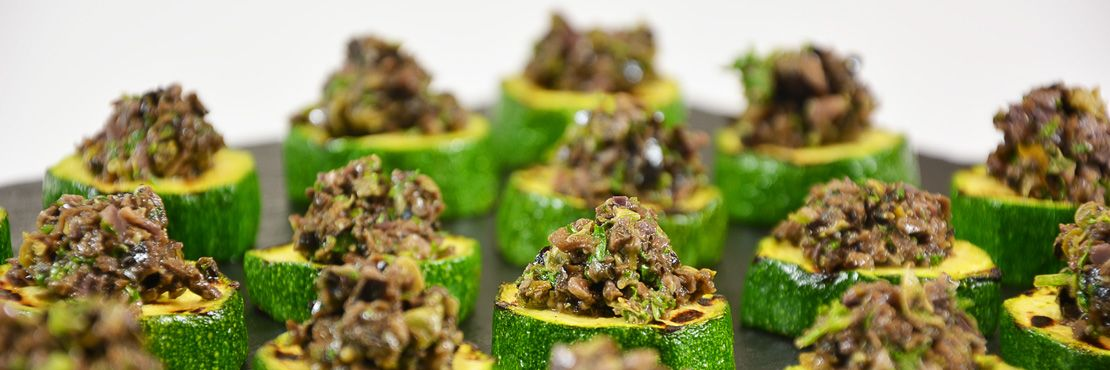 Canape Catering London Hot Tapenade Courgette