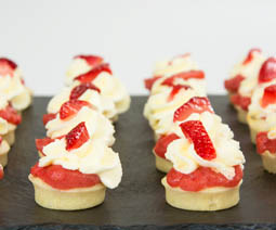 Mini Strawberry Cream Scones