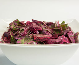 Beetroot, Sugar Snap & Spinach Salad
