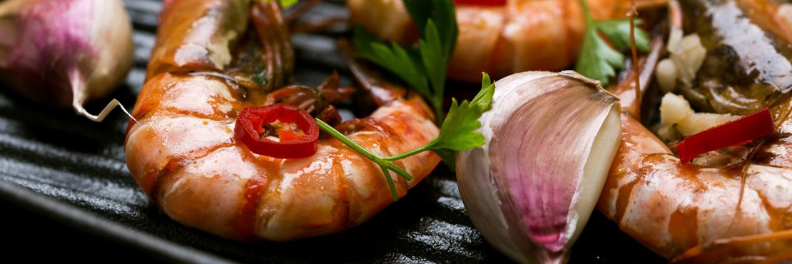 Hot Buffet London Caterer Prawn Garlic