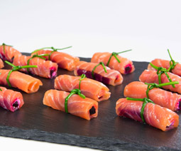 Smoked Salmon Beetroot Parcel