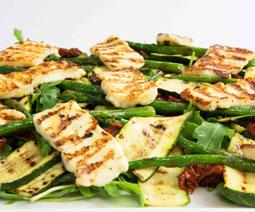 Asparagus Courgette Halloumi Salad