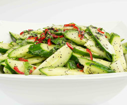 Cucumber Chilli & Poppy Seed Salad