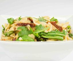 Farfalle Pasta Rocket Pinenuts Sundried Tomato Salad