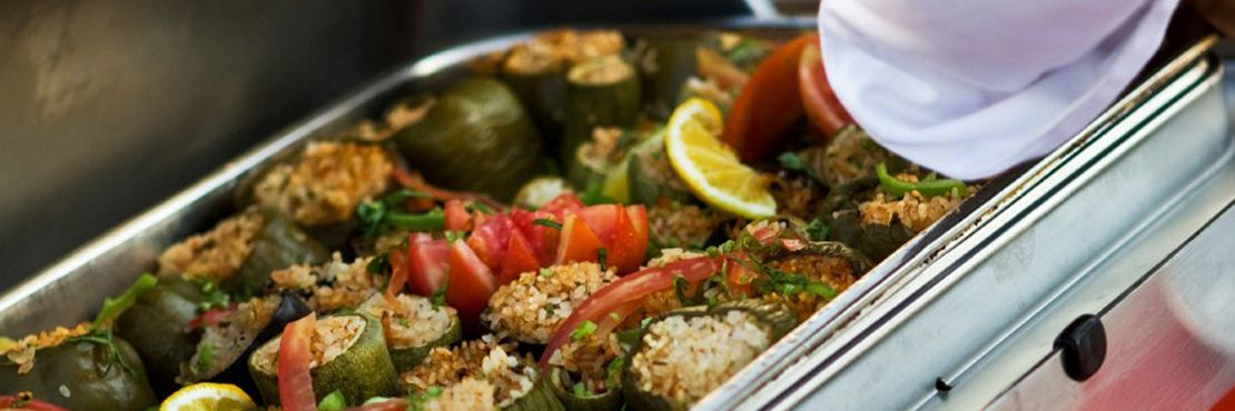 Hot Buffet London Caterer Chaffing Dish Vegetable